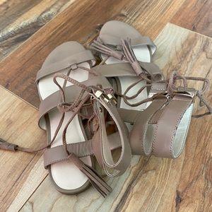 Nine West Decima Gladiator sandals Nude lace up